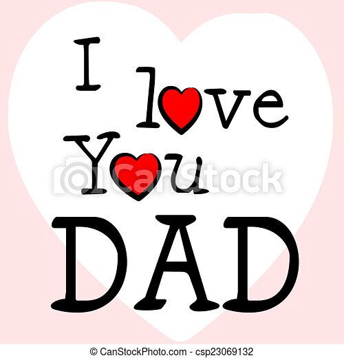 Papá Representa Amor Día De Padres Cariño Feliz Papá Amor