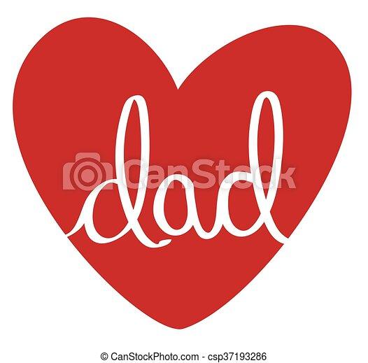 papa, coeur, rouges - csp37193286