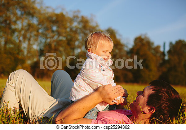 papa, fille - csp25294362