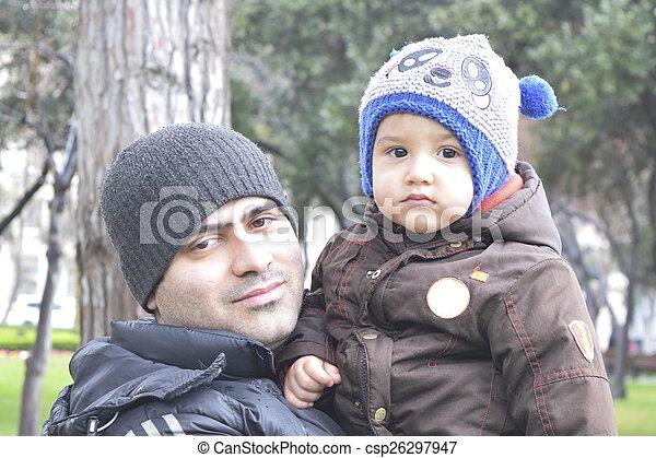 papa, fils - csp26297947