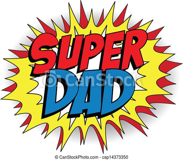 papa, héros, père, super, jour, heureux - csp14373350