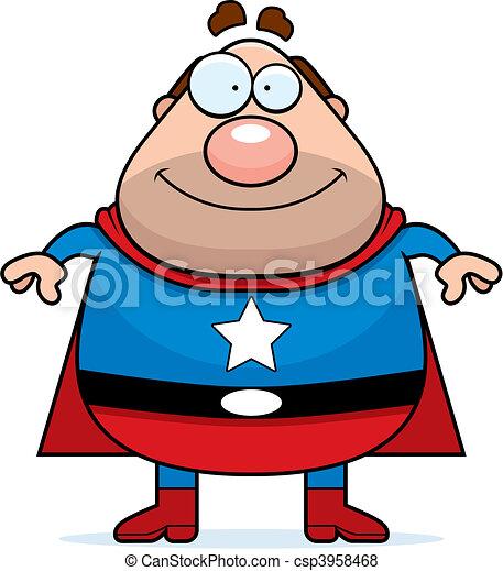 papa, superhero - csp3958468