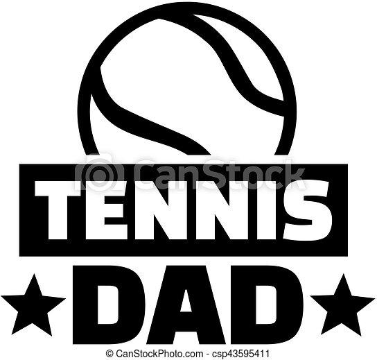 papa, tennis - csp43595411