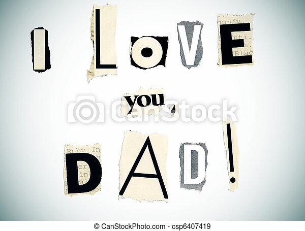 papa, vous, amour - csp6407419