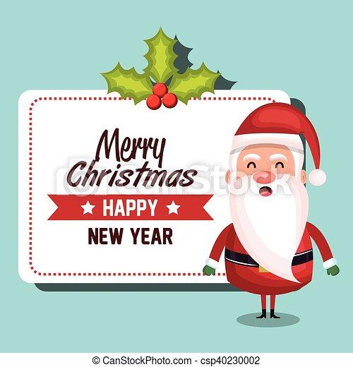 Papai Noel Desenho Feliz Natal Cartao 10 Feliz Claus Eps