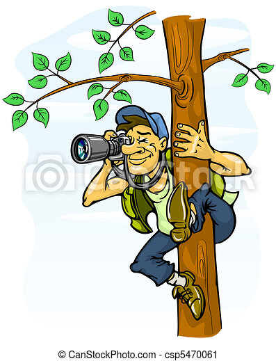 paparazzi photograph from a tree - csp5470061