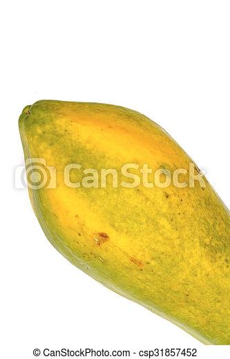 papaya isolated on white background - csp31857452