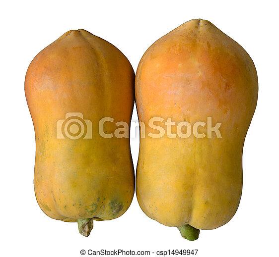 papaya isolated on white background - csp14949947