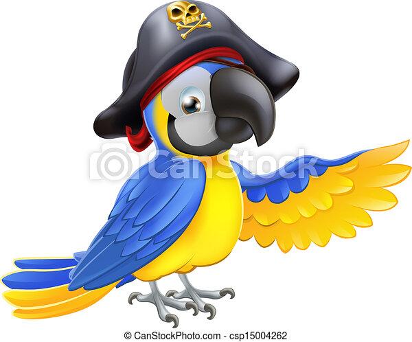 papegoja, sjörövare, illustration - csp15004262