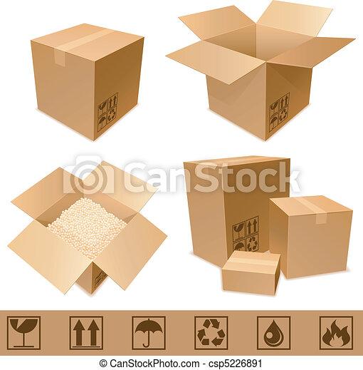 papelão, boxes. - csp5226891