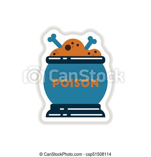 papel, adesivo, poção, fundo, cauldron - csp51508114