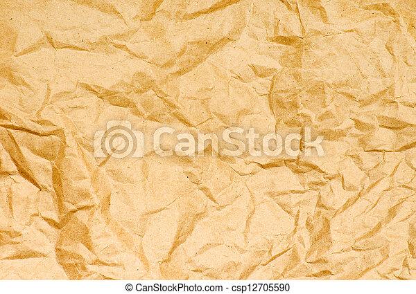 papel amarrotado, antigas - csp12705590
