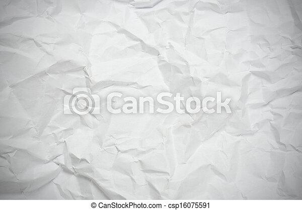 papel amarrotado, textura - csp16075591