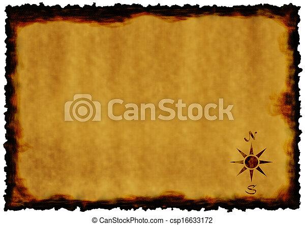 papel, antigas - csp16633172