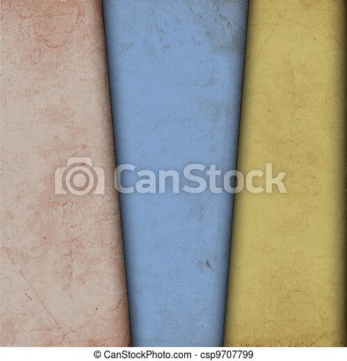 papel, antigas, fundo - csp9707799