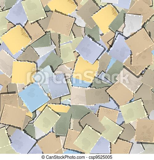 papel, antigas, fundo, pedaços - csp9525005