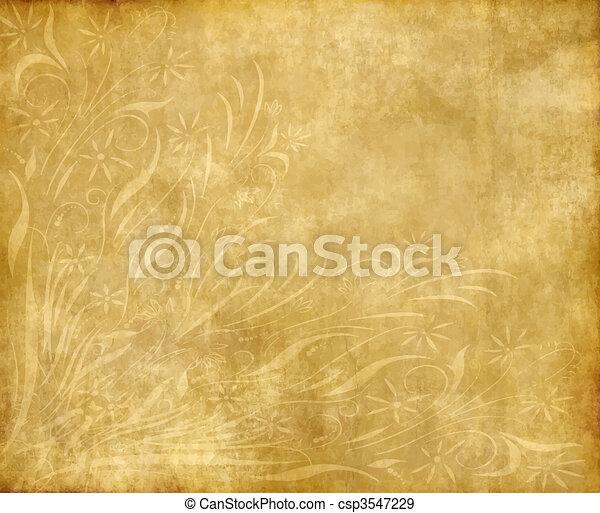 papel, antigas, ou, pergaminho - csp3547229