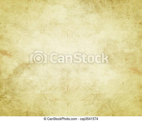 papel, antigas, ou, pergaminho - csp3541574