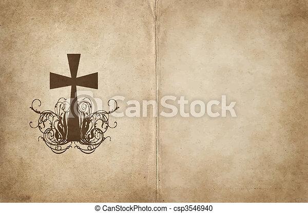 papel, antigas, pergaminho - csp3546940