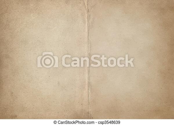papel, antigas, pergaminho - csp3548639