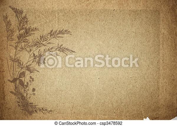 papel, antigas, pergaminho - csp3478592