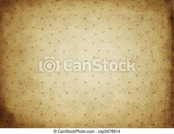 papel, antigas, pergaminho - csp3478614