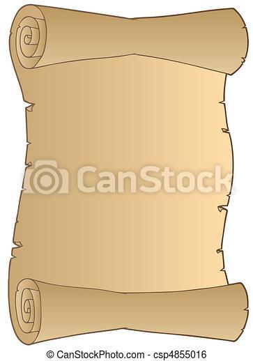papel, antigas, scroll - csp4855016