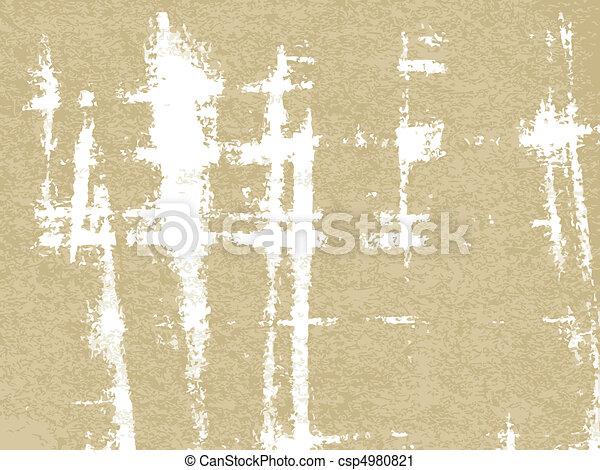 papel, antigas, textura - csp4980821