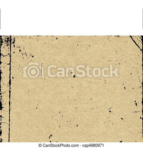 papel, antigas, textura - csp4980971