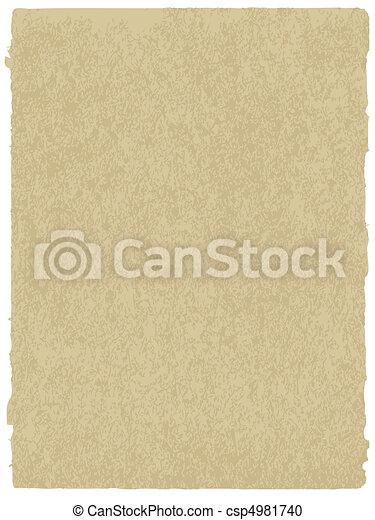papel, antigas, textura - csp4981740