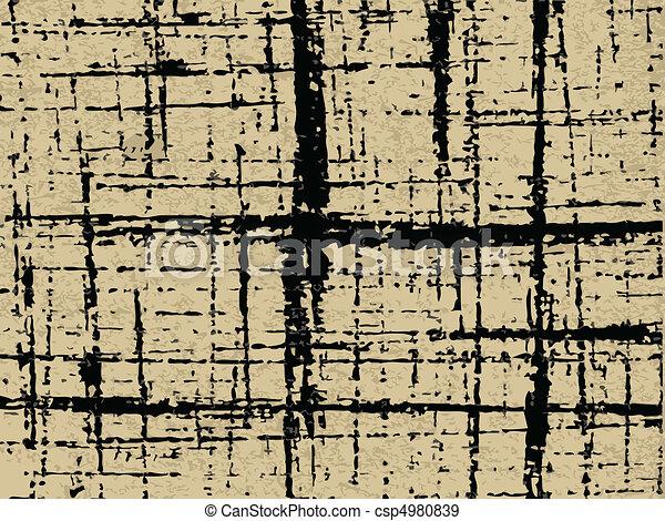 papel, antigas, textura - csp4980839