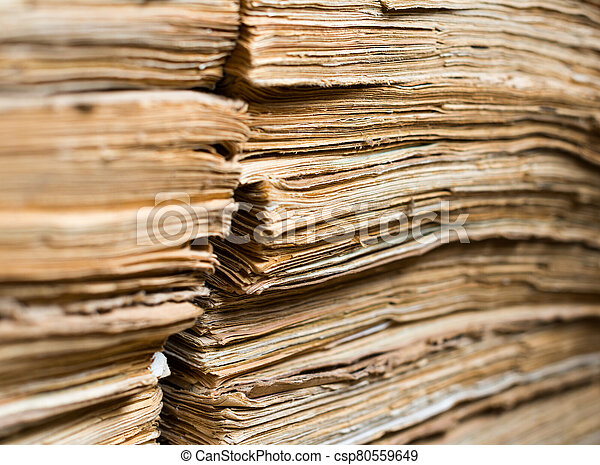 papel, archivo, documentos, viejo - csp80559649