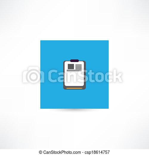 Papel en blanco - csp18614757