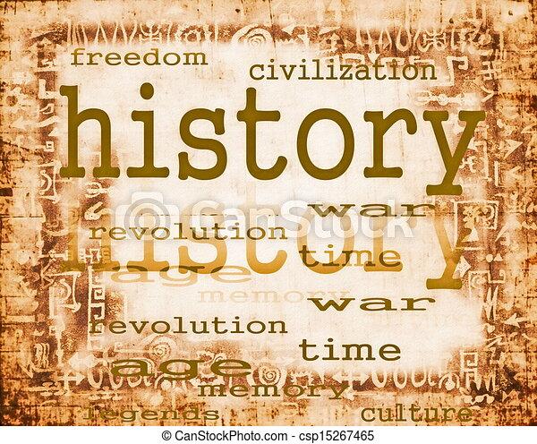 papel, concepto, viejo, historia - csp15267465
