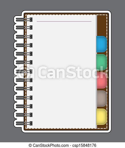 Papel en blanco con esquema vector de anotación - csp15848176