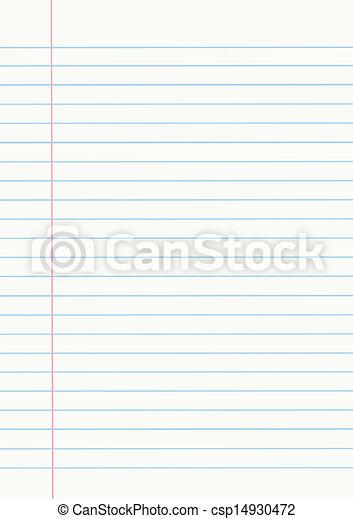 Papel de cuaderno - csp14930472