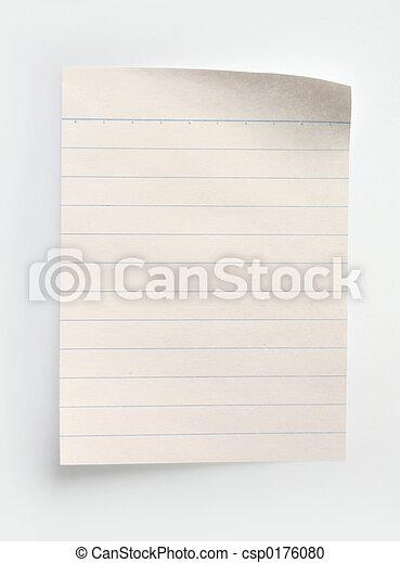 papel, cuaderno, rayado - csp0176080