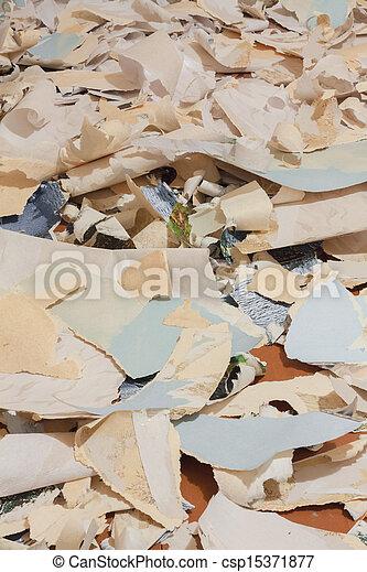 Desechos de papel para reciclar - csp15371877