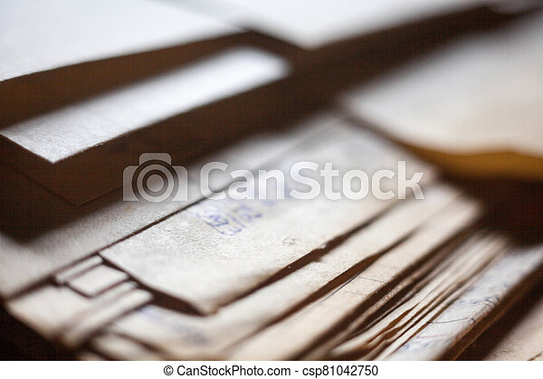 papel, documentos, viejo, archivo - csp81042750