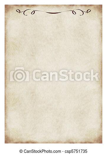 Antecedentes de papel antiguo con elementos de ornamentación - csp5751735