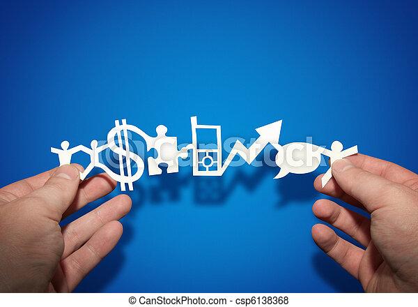 papel, empresa / negocio, cadena - csp6138368