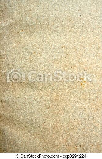 papel, envelhecido - csp0294224