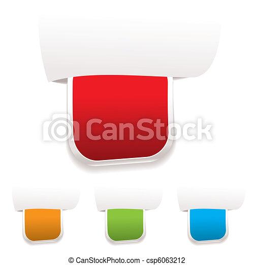 La etiqueta de papel - csp6063212