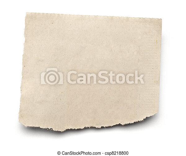 papel, fundo, notícia, branca, rasgado, mensagem - csp8218800