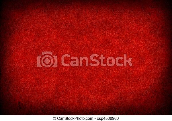 papel, grunge, rojo - csp4508960