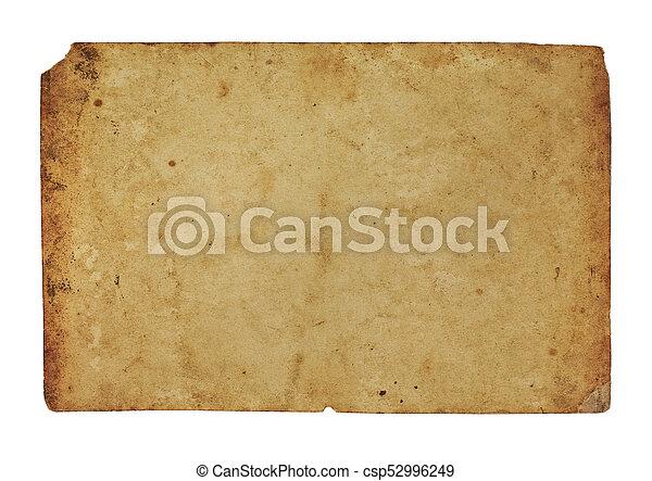 papel, horizontais, antigas - csp52996249