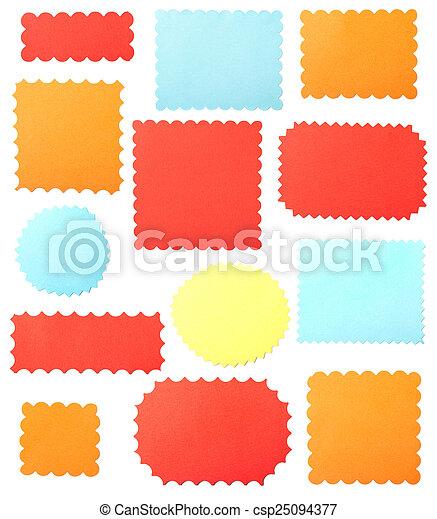 Frames cortadas de un papel - csp25094377