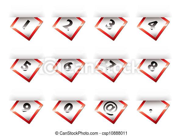 Números de cuenta roja - csp10888011