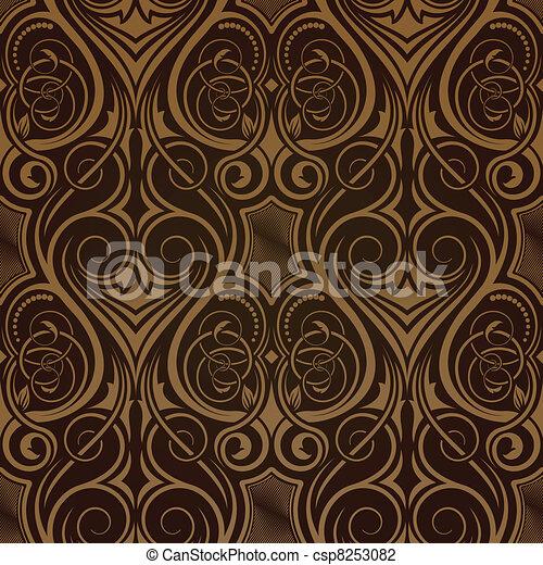 papel parede, seamless, marrom - csp8253082