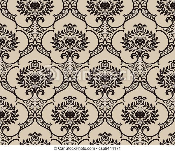 Papel tapiz de damasco - csp9444171